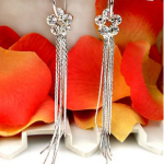 Austin-Earrings-Costume-Jewelry-Chloe-Silver-Hoop-with-Rhinestone-Flower-Tassel-Drop-Earrings