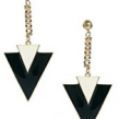 Austin-Earrings-Costume-Jewelry-Sarah-Black-and-White-Fashion-Triangle-Stud-Earrings