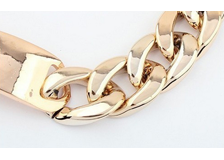 Austin-Earrings-Costume-Jewelry-Eva-Gold-Chain-Choker Acrylic-Necklace-2