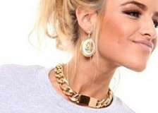 Austin-Earrings-Costume-Jewelry-Eva-Gold-Chain-Choker Acrylic-Necklace-6